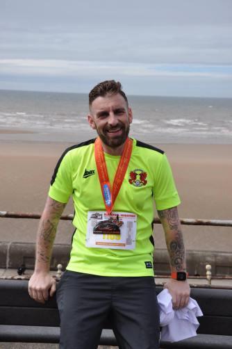 Adam Callow at Blackpool Marathon