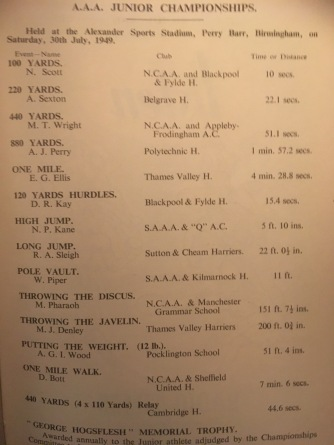 1949 AAA Junior T&F Championships