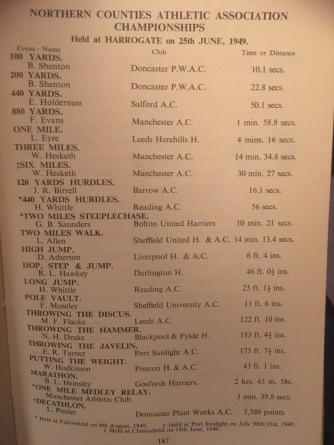 1949 Northern Counties T&F Championships 1949